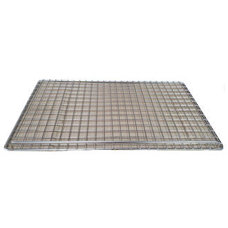 Straight wire Stainless Steel Cooling Tray, with Side Bar: 457x737mm  - LIMITED QUANTITIES