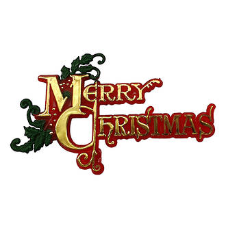 Merry Christmas Red/Gold/Green 115x70mm
