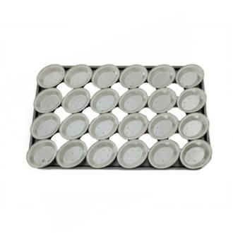 Palletized Pie Tins, (24) x Oval tins, 130x105x29mm, Tray size 720x460mm