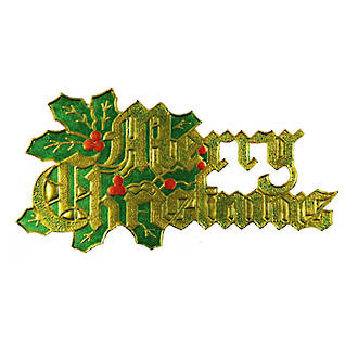 Merry Christmas Paper Motto (70 x 35mm, Packet 100)