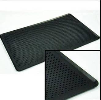Perforated Baking tray 3-sided, Aluminium Teflon Coated -740x406x25mm