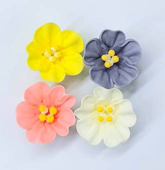 Icing Flowers Petunia Mixed Flowers 40mm (Box of 56)