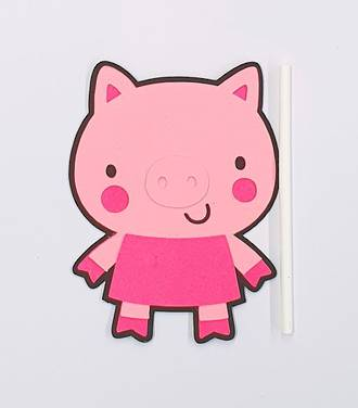 Pig - Pink Cake Topper (Card 60x80mm)