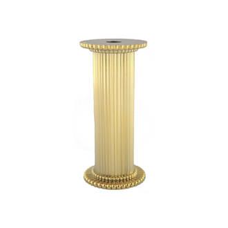 Round Fine Fluted Gold Pillar 75mm