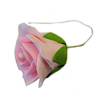 Icing Pink Single Rose, 50mm.  Box of 28 (wired)  - SOLD OUT