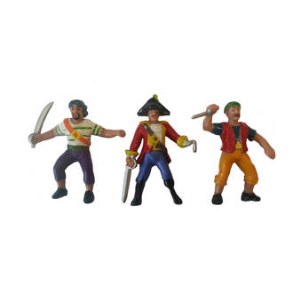 """Pirates Ahoy"" Figurines  80mm (3)"