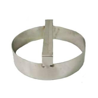 Plain round dough cutter 125mmx75mm Deep S/Steel with handle