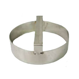 Plain round dough cutter 220mm X 75mm Deep S/Steel with handle