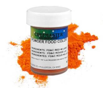 Chefmaster Powder Colour Orange 3g