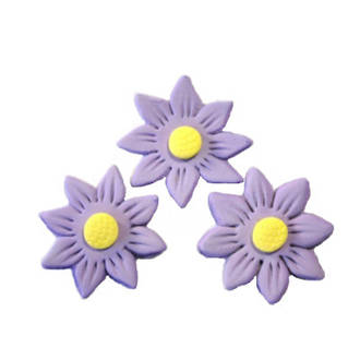 Icing Lavender Daisy, 35mm.  Box of 120 - SOLD OUT