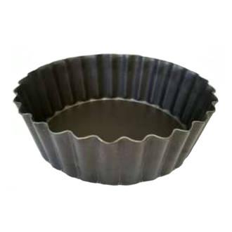 Quiche Pan, Alum (TEFLON) 100x30mm Deep, Solid base