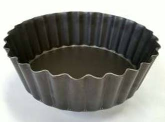 Quiche Pan, Alum (TEFLON) 100x30mm Deep, Solid base