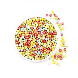 Sugar Pearls 3mm-Rainbow (1kg bag)