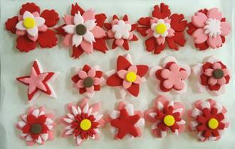 Icing Flowers Assorted- 3-5cm, (Box of 32)