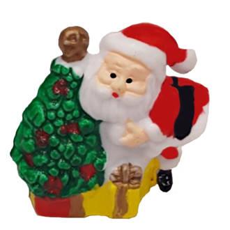 Santa with Tree-Plastic 30mm