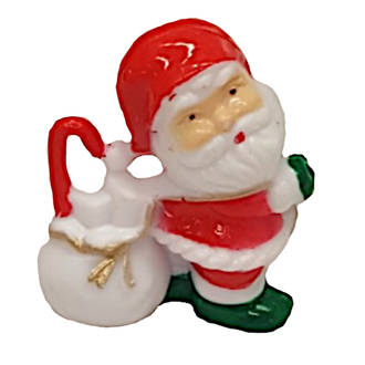 Santa with toy bag-Small-Plastic-30mm