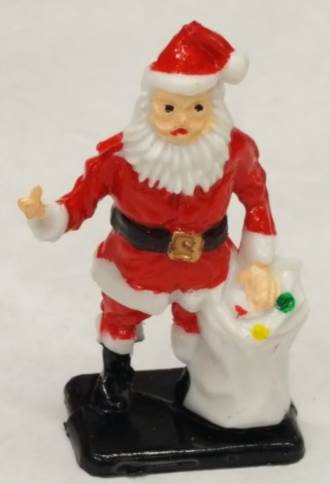 Santa with Gift Bag- Plastic-50mm