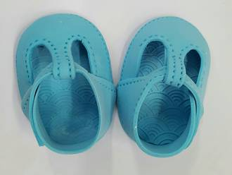 Gumpaste Baby Shoes-Blue  (I PAIR)