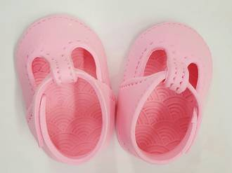Gumpaste Baby Shoes-Pink  (I PAIR)