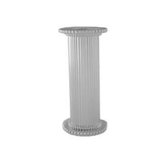 Round Fine Fluted Silver Pillar 75mm
