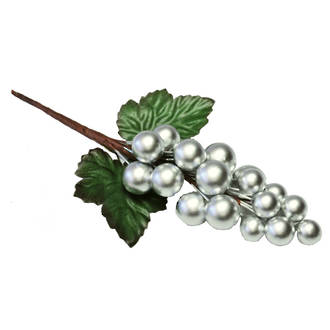 Berry Cluster Silver, 130 x 60mm