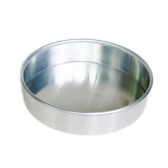 185x30mm Round Aluminium Solid Cake Pan