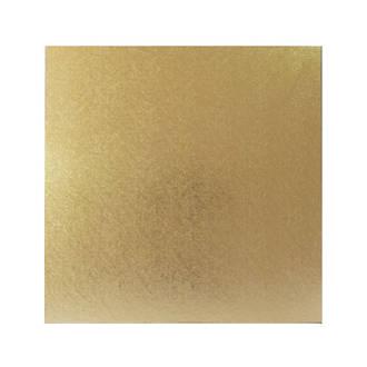 """Square 13"""" MDF Board, Gold"""