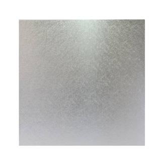 """Square 13"""" MDF Board, Silver"""