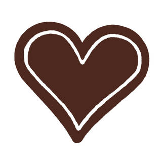 Chocolate Dark Plain Heart - 30mm (30PK)