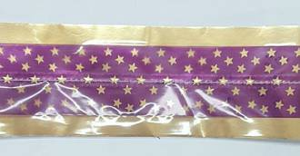 Cake Band Star Purple/Gold 63mm (1m)