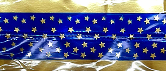 Cake Band Star Royal Blue/Gold 63mm (7m)