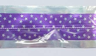 Cake Band Star Purple/Silver 63mm (1m)