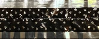 Cake Band Star  Black/Silver 63mm (1m)