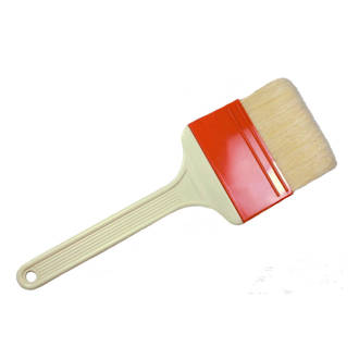 75mm Natural bristle grease brush, Reinforced fiberglass handle (heat resistant to 120°C)