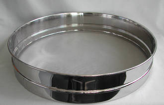Stainless Steel Flour Sieve (250mm wide, 75mm deep)