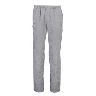Blue/White Check Trousers, elastic top with drawstring