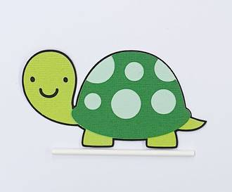 Turtle - Green Cake Topper (Card 100x50mm)