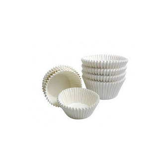 Mini candy Truffle Cups -  50mmx30mmx24mm White (200) - SOLD OUT