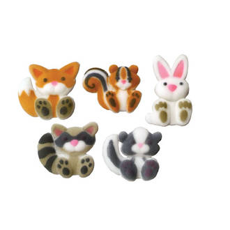 Woodland Animals Dec-on Sugar Decorations 40mm (Box of 70) -