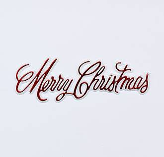 Merry Christmas Plaque 100 x 30mm, Red