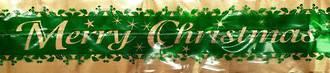 Merry Christmas Gold/Green Band (7 Metre Roll, 63mm width)