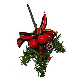 Christmas Spray large Red - 170 x 100mm