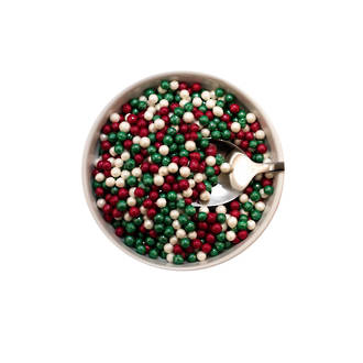 Sugar Pearls 4-5mm-Xmas Blend (1kg bag)
