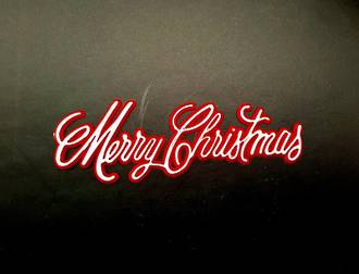 Merry Christmas Plaque 100 x 30mm, White