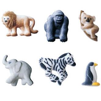Mini Zoo Animals Assortment Dec-on Sugar 38mm (Box 120)