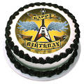 Rock Star Birthday Edible Icing Image round 16cm