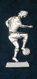"""Silver Footballer 3"""" (80mm)"""