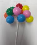Balloons Pick Multi-Colour 80mm (12)