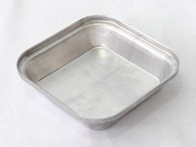 Single Aluminium Pie Tin, Square 108x27mm