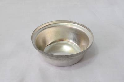 Single Savoury Pie Tin, Large Round Shallow, 72x26mm, Tin Plated
